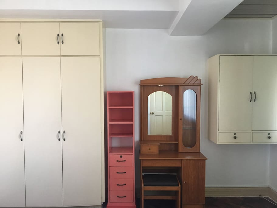 Elegant cabinets and a dresser for all your things