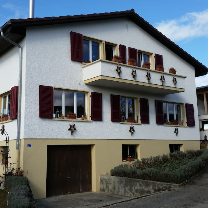 Einfamilienhaus   (Winter)