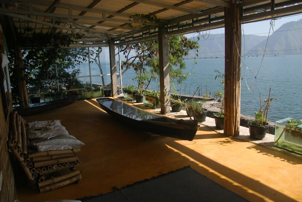 Our Terrace with the  Boat Table