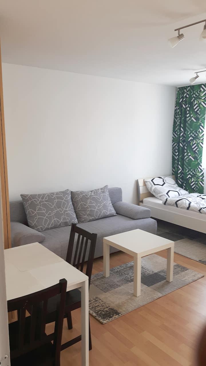 Wohnung mit Balkon.Nähe Playmobil und Messe.U-Bahn