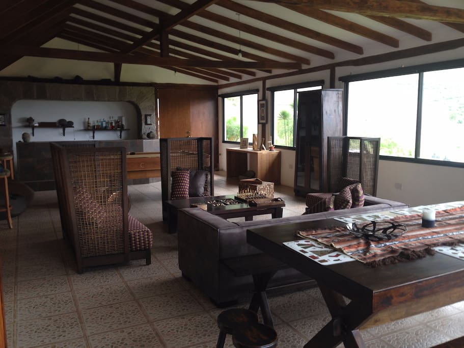 Hacienda House, 4 bedrooms each with private bathrooms,