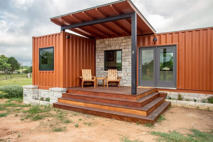 Lone Star at Odonata Escape -- Texas chic container room with flair in the country