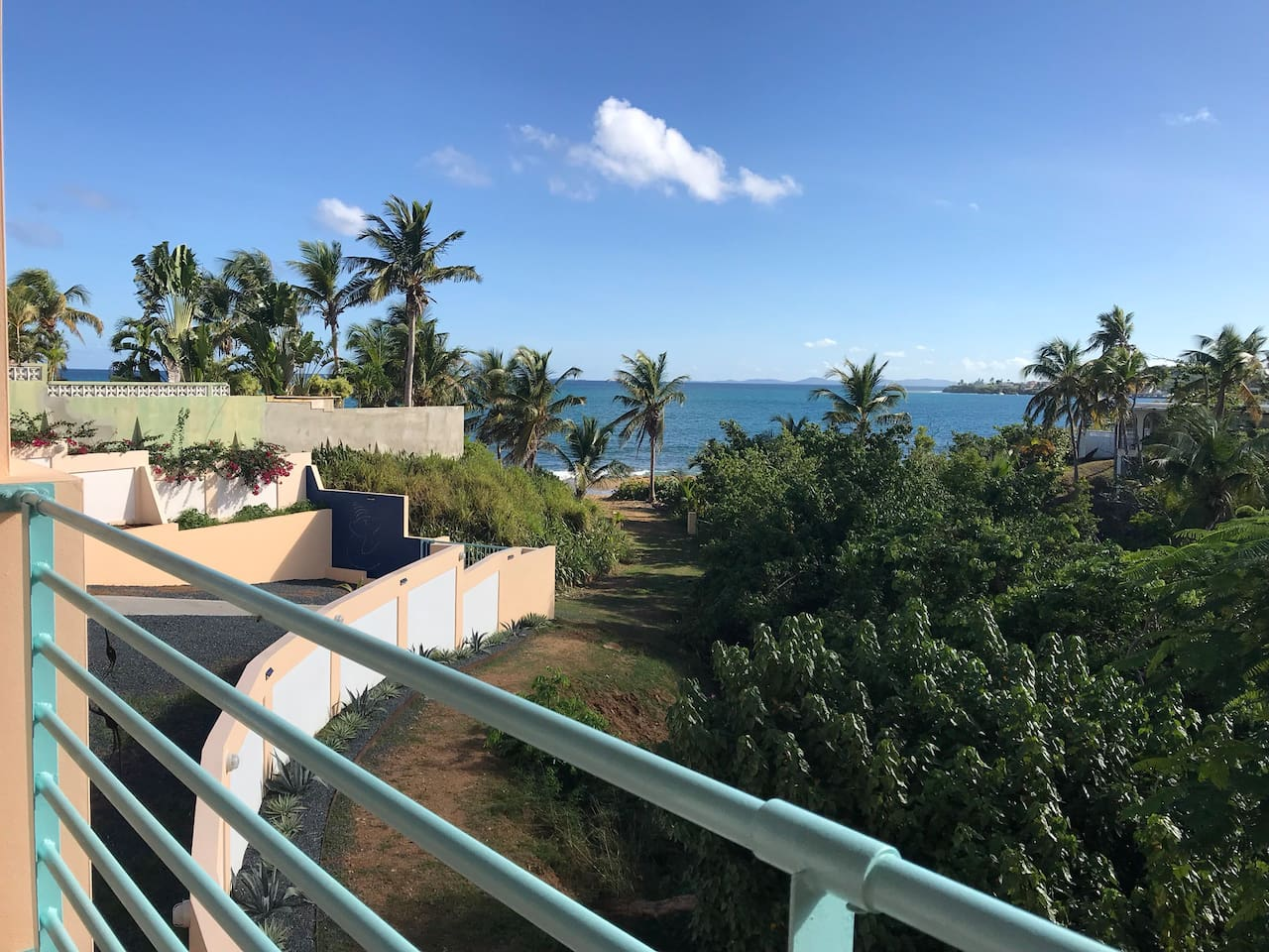 View from the terrace. Walk to beach