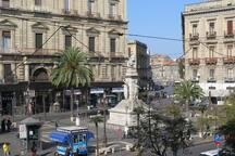 Piazza Stesicoro vista dall'appartamento
