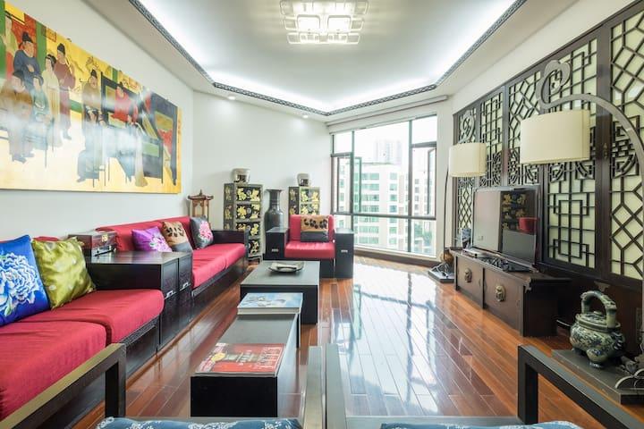 深圳皇岗公园旁3卧室超安静公寓,3BR beautiful apartment,shenzhen - Shenzhen - Apartemen