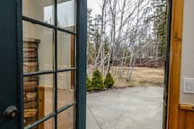 side door to guest patio