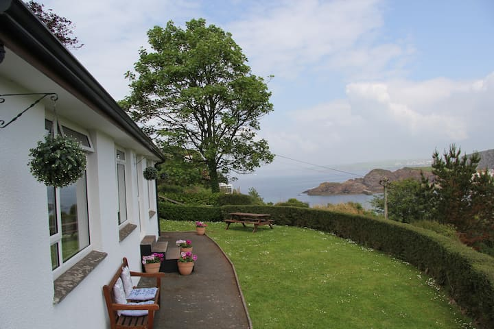 Fabulous  bungalow with sea views in Hope Cove.