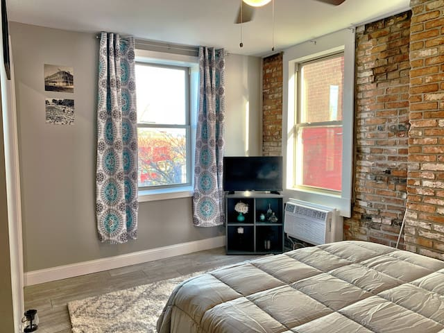 2nd floor studio unit, historic South St. Louis