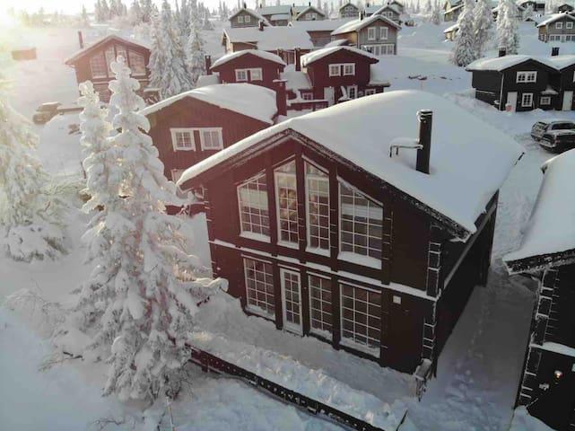 Fageråsen mountain top ski in/out cabin
