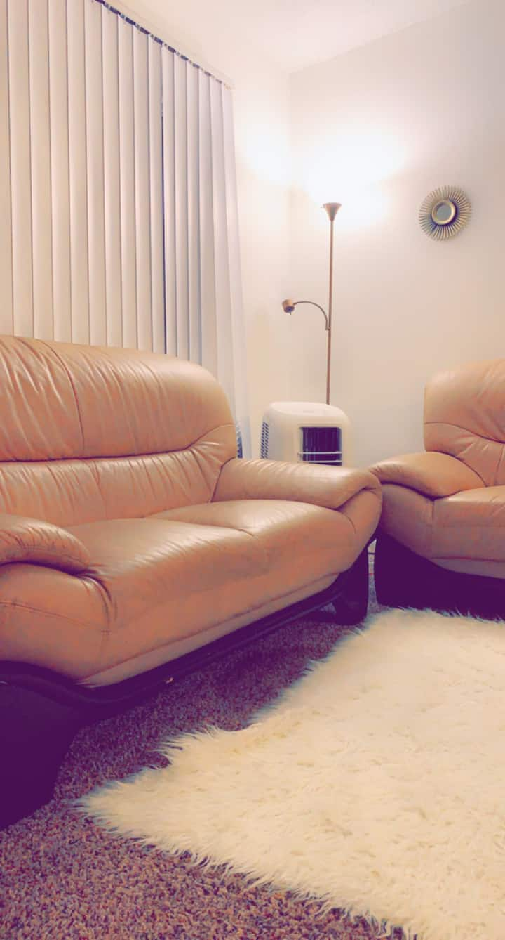 Relaxing Leather Sofa
