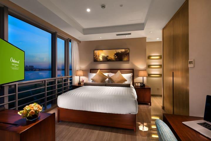 来自北美知名酒店公寓品牌 - 坐享独墅湖270度湖景 45平 豪华客房 地铁2号线月亮湾站直达 - Suzhou - Mobilyalı daire