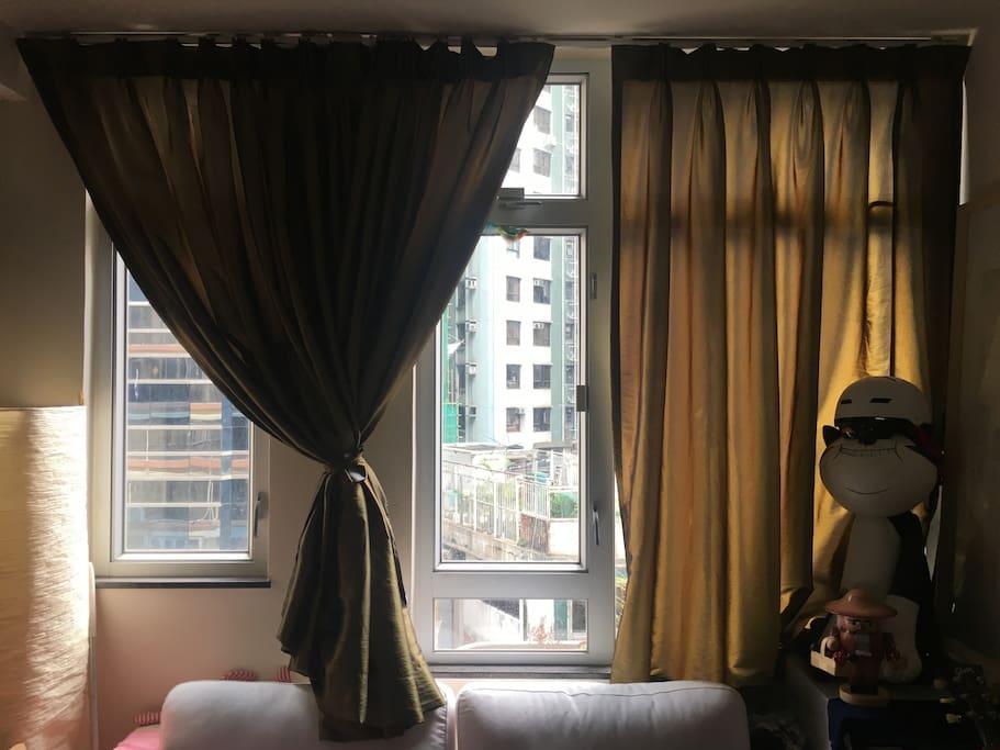 Windows in apartment