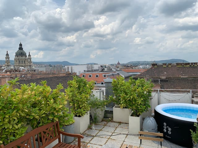 Luxurious Apt with JACUZZI Private Rooftop Terrace