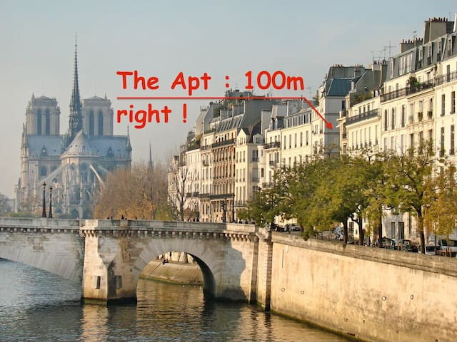 SPECIAL OFFER!Apt Notre-Dame Island - Paris - Apartemen