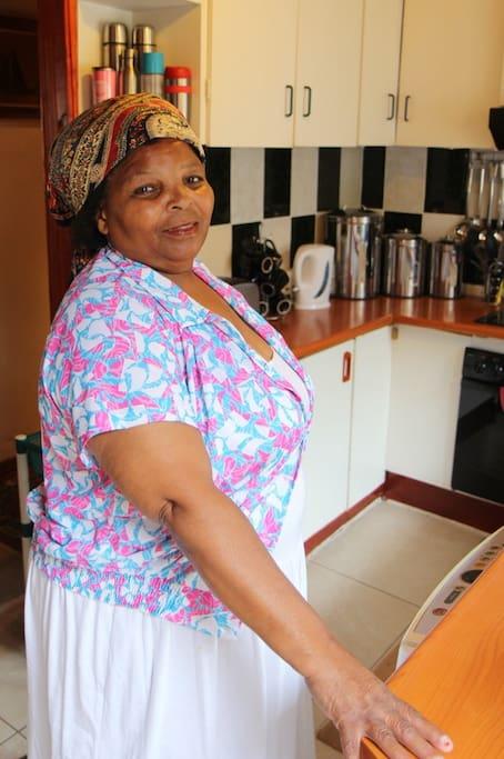 Miriam in her kitchen