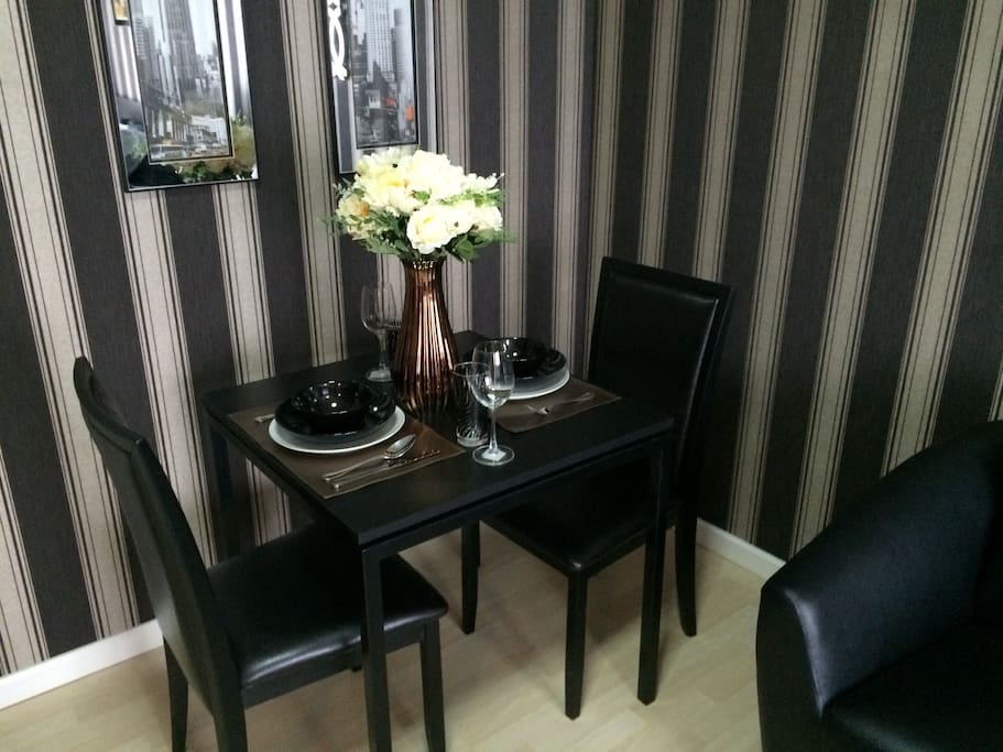 Apartment have dining area, you will enjoy every meal here.