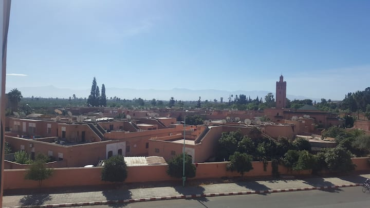 Perfect location in marrakech with nice view