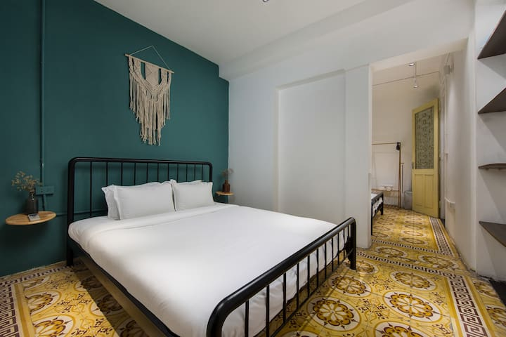 The 2nd bedroom which is also fully furnished with comfy matress, enough to accommodate large group of friends or family.