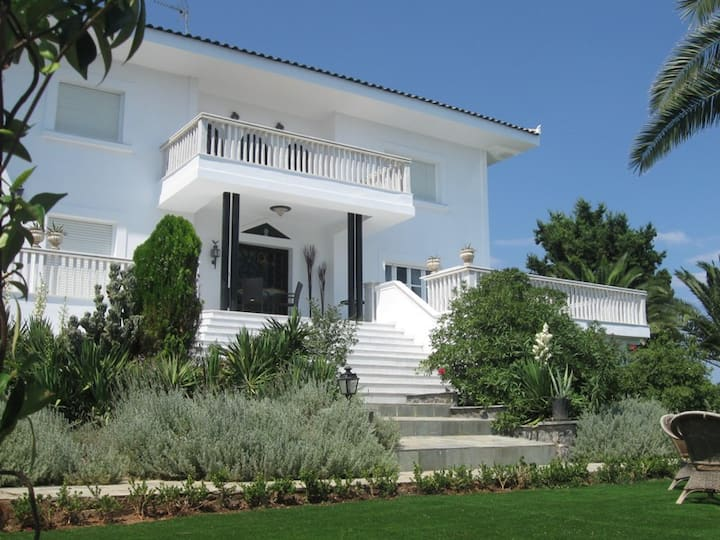 Luxurious Beachfront 4-bedroom Villa in Evia