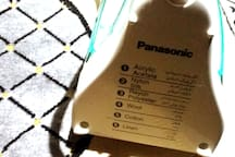 * Panasonic steam iron with a special table for all types of clothes cotton, linen, wool, and silk