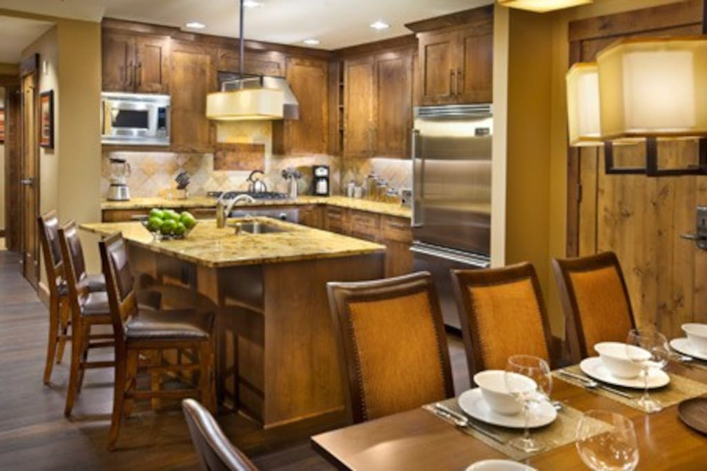 Kitchen with high end appliances.