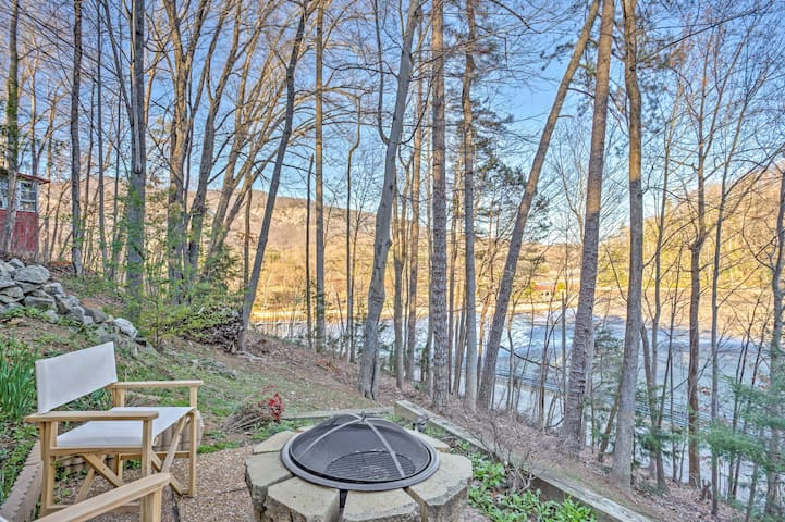 Tranquil Lake Lure House w/Great Deck & Lake Views