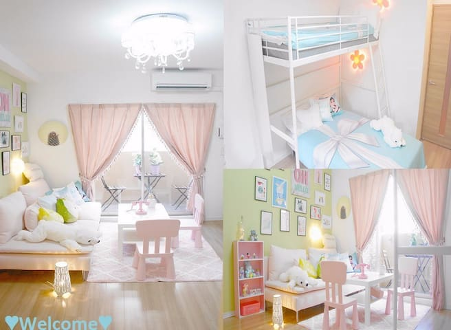 ❤❤OsakaNamba/station~2min/『Pink』cute room❤❤