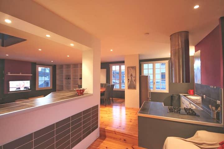 Appartement 95 M2 ⓛⓞⓤⓡⓓⓔⓢ centre ville 3ème étages
