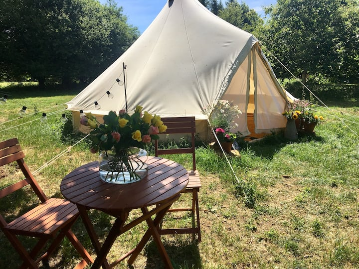 Woodland Glamping Willow Tree Yurt