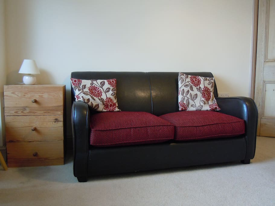 Your own private sitting room. An extra adult or child can sleep on the sofa bed at an extra £5 per night. We also have a camping cot available.