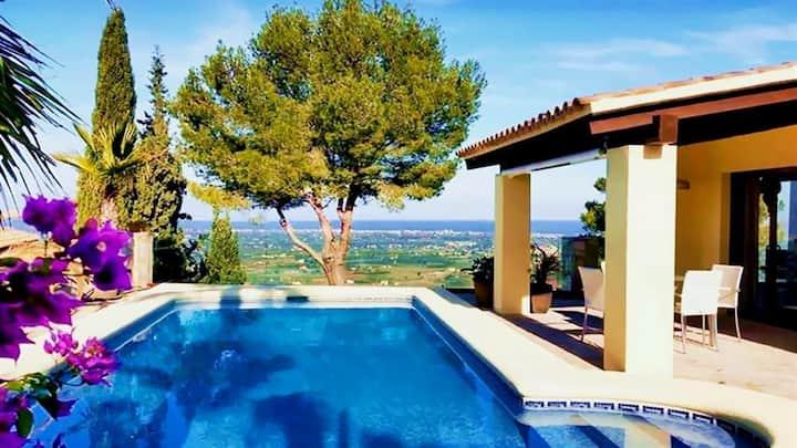 Costa Blanca, Denia, Superbe Villa -Belle vue!