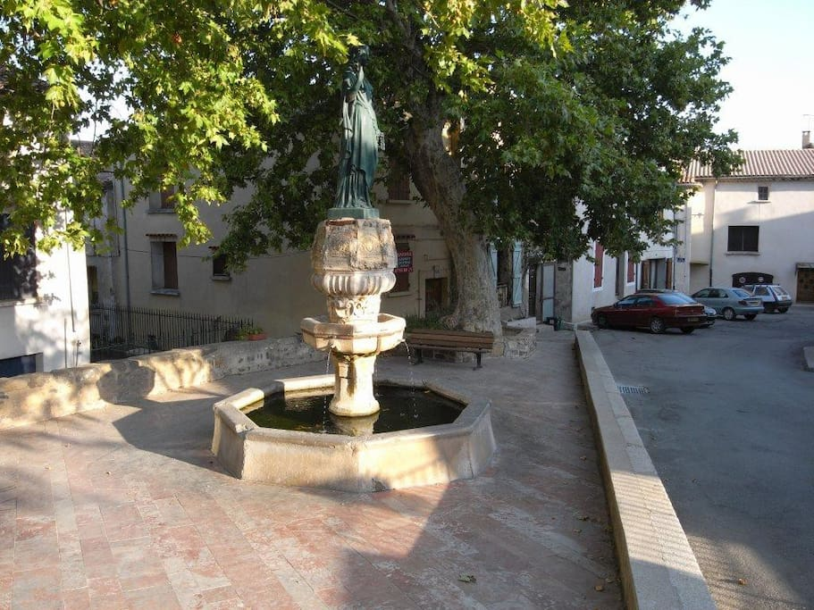 The fountain in the square