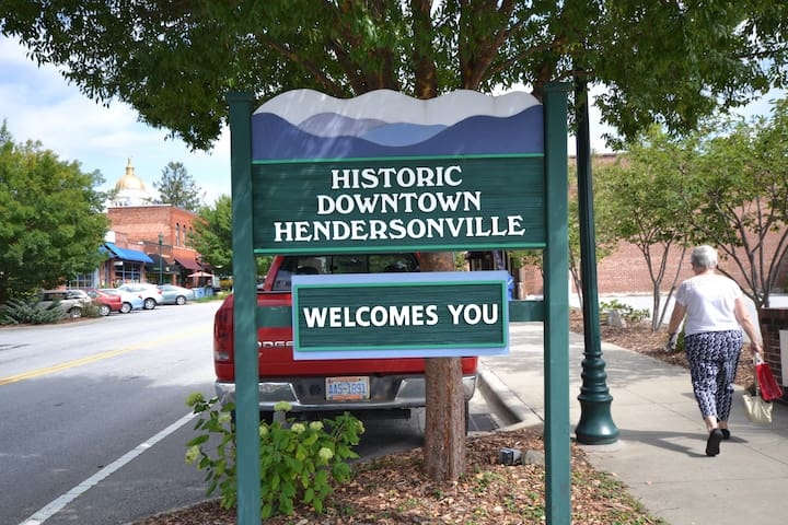 Adorable, accessible 2/1.5 downtown apartment! - Hendersonville - อพาร์ทเมนท์