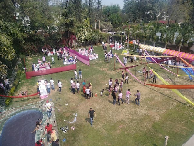 #Holi party #family get together@ vintage the farm