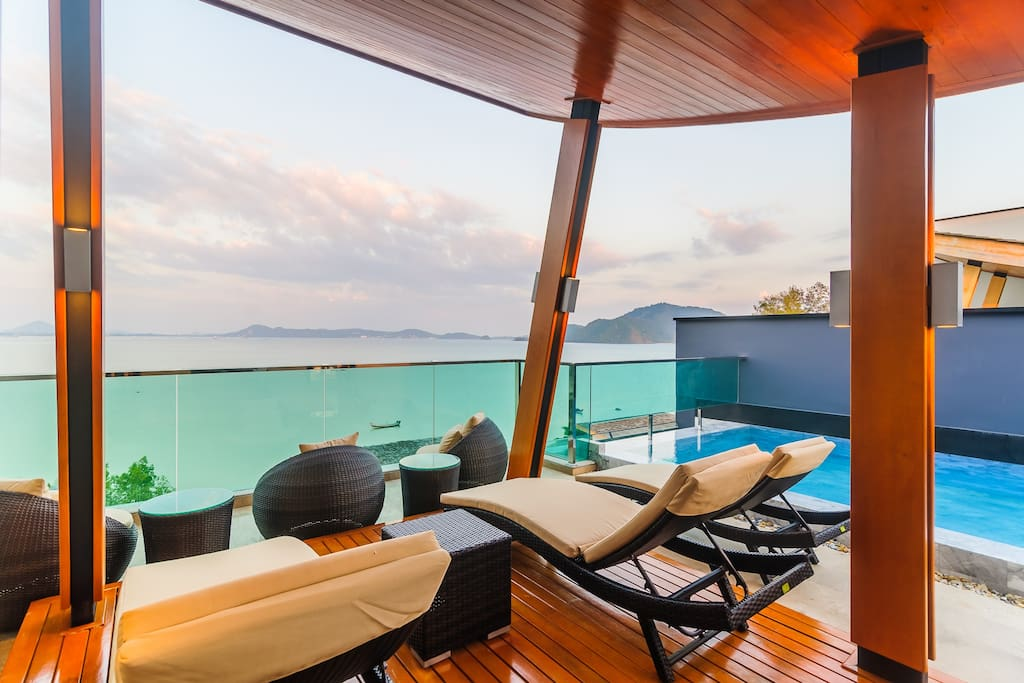 The Rooftop Pool With Seaview and sitting area