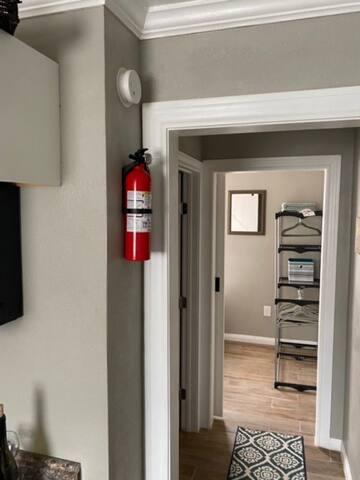 fire extinguisher/ smoke alarm