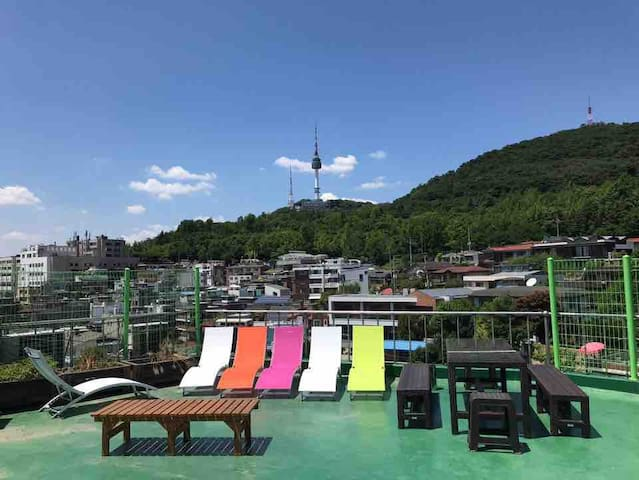 (NAMSAN VIEW) MOONRIVER 3 - BEST SUNSET ROOFTOP