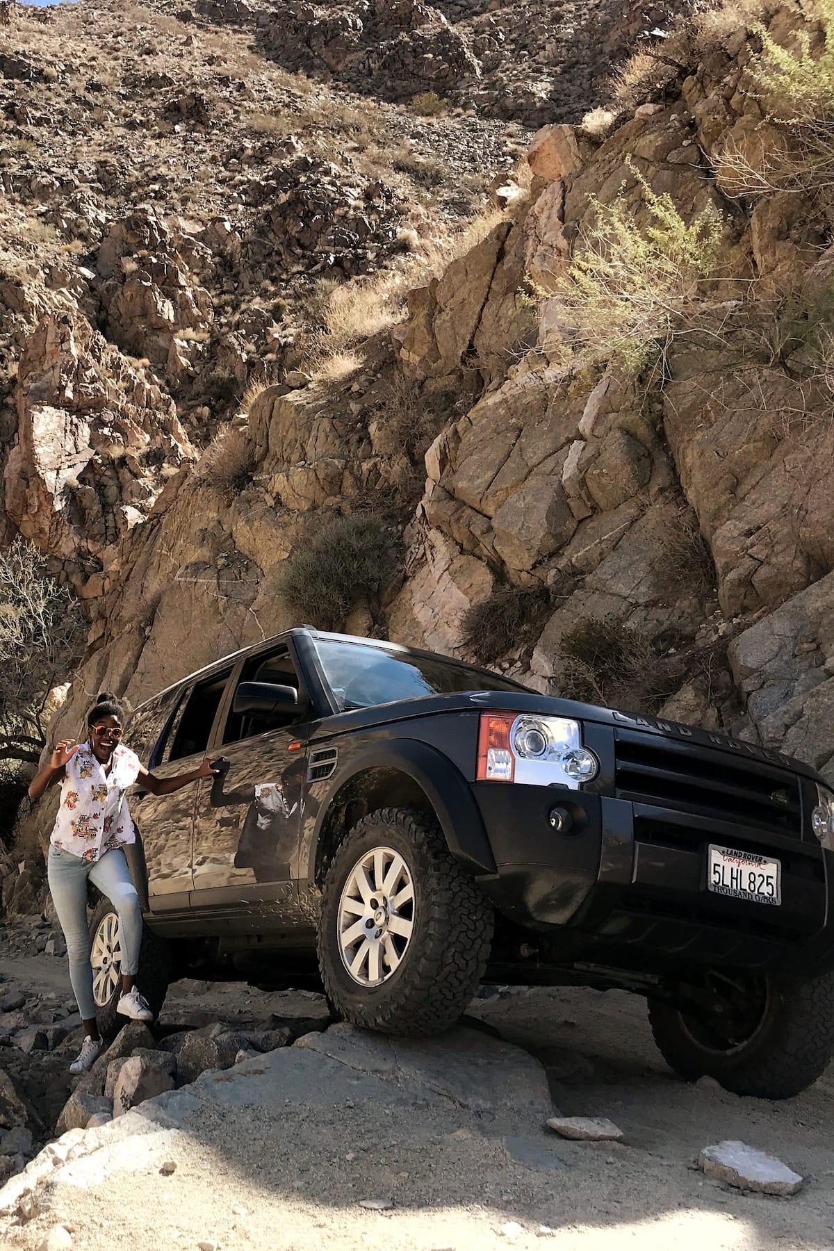 Land Rover on rocks