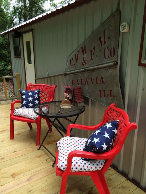 Sit on the porch and enjoy the east texas wildlife