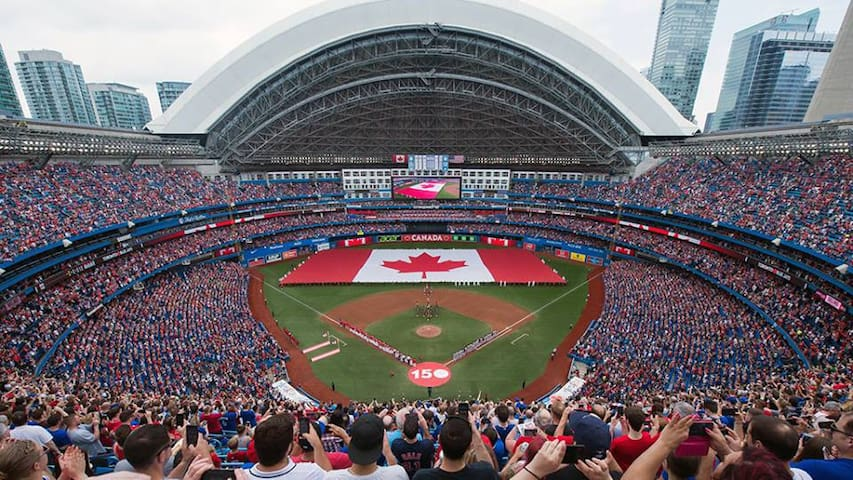 Toronto Blue Jays games at the Rogers Centre; about a 15 minute walk away.