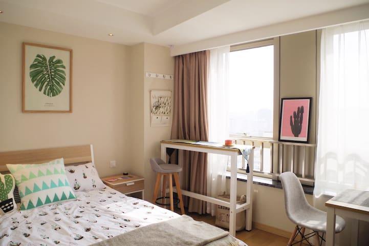 Jill's Studio well-equipped 下楼直达地铁至人广15分钟精致装修酒店式公寓 - Shanghai - Lägenhet