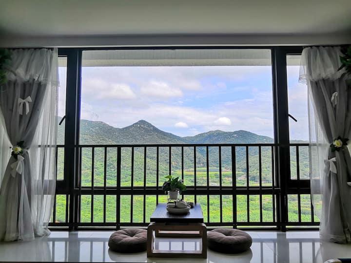 绵羊~南澳县青澳湾北回归线附近150米左右香湖湾3.6米飘窗山景如画1.5米大床房