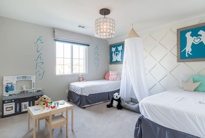 Playroom for the kiddos in their bedroom