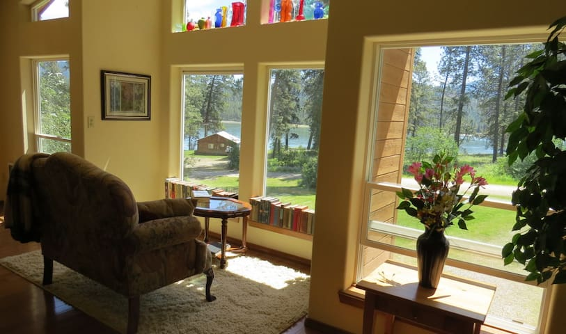 View of Lake Roosevelt from the living room windows