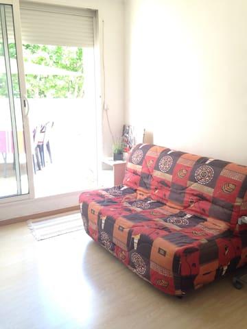 Joli studio avec grande terrasse - Gardanne - Apartament