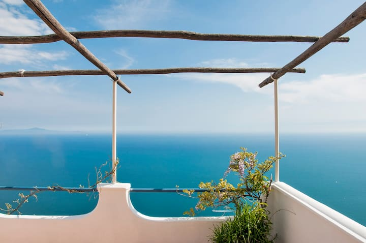 Infinity terrace in Furore, Amalfi Coast