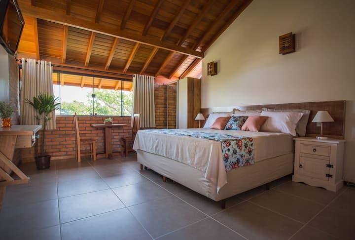 Pousada Areias do Rosa - Estudio con cama doble grande
