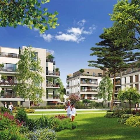 Central Parc - Appart  3 pièces  20 min de Paris - Conflans-Sainte-Honorine - Apto. en complejo residencial