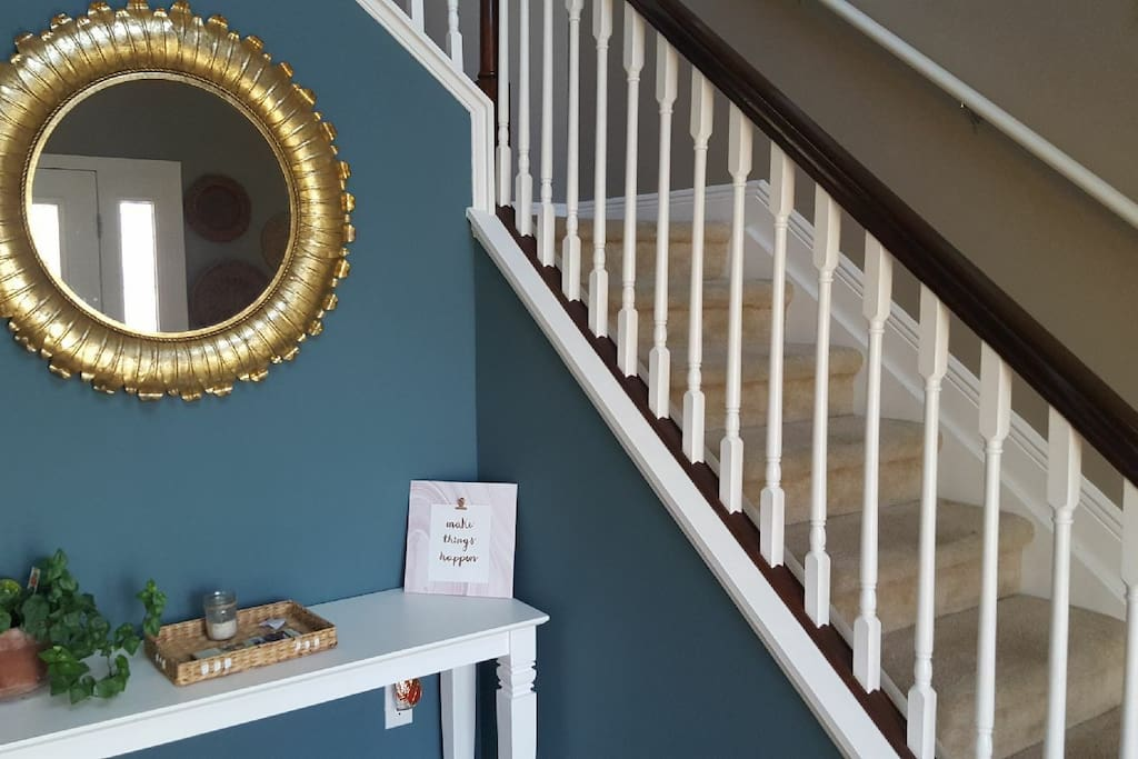 When entering the home, you're welcomed into a spacious foyer.