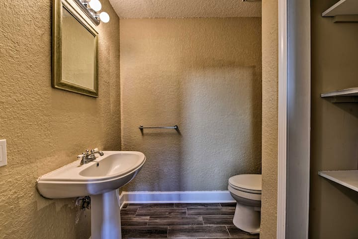 There's a half bath right off the main floor for your convenience.